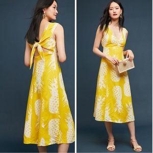 Maeve Pineapple Midi Dress